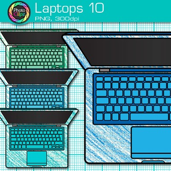 Laptop Clip Art {Rainbow Computers for Classroom Technology & Lab Use} 10
