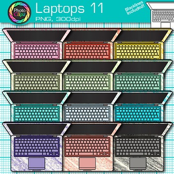 Laptop Clip Art {Rainbow Computers for Classroom Technology & Lab Use} 11