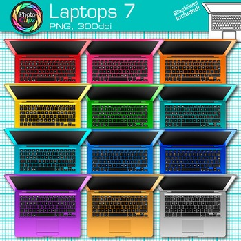 Laptop Clip Art {Rainbow Computers for Classroom Technology & Lab Use} 7