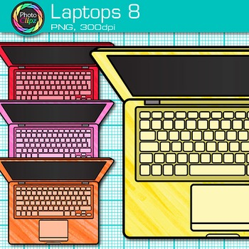 Laptop Clip Art {Rainbow Computers for Classroom Technology & Lab Use} 8