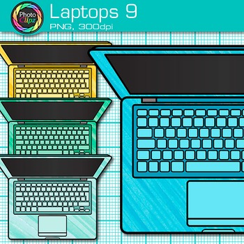 Laptop Clip Art {Rainbow Computers for Classroom Technology & Lab Use} 9