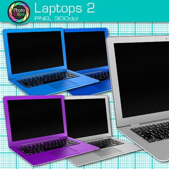 Laptop Clip Art {Rainbow Computers for Classroom Technology & Lab Use} 2