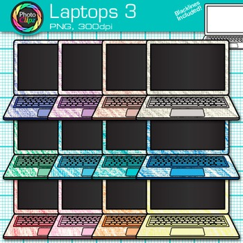 Laptop Clip Art {Rainbow Computers for Classroom Technology & Lab Use} 3