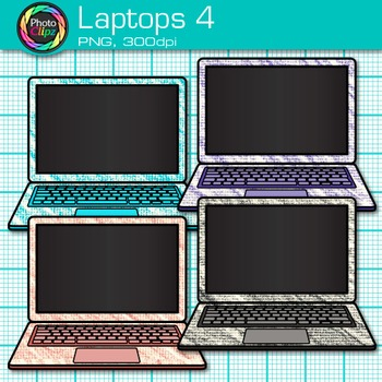 Laptop Clip Art {Rainbow Computers for Classroom Technology & Lab Use} 4