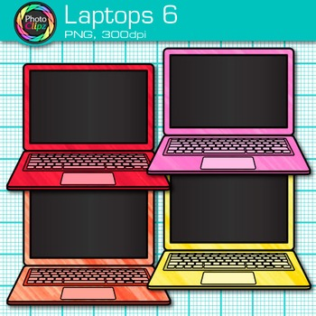 Laptop Clip Art {Rainbow Computers for Classroom Technology & Lab Use} 5