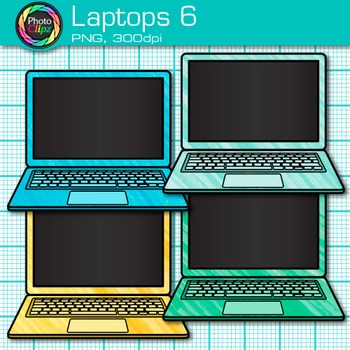 Laptop Clip Art {Rainbow Computers for Classroom Technology & Lab Use} 6