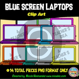 Laptop Clip Art Commercial Use (BLUE Screen)