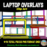Laptop Clip Art for Commercial Use - 14 PNG Images (Transparent Overlays)