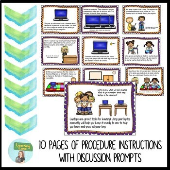 Laptop Rules & Procedures Picture Book *Color and B&W*