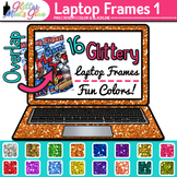 Laptop Frame Clip Art {Rainbow Computer Borders for Technology Resources}