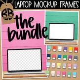 Laptop Digital Mockup Styled Images Shiplap BUNDLE