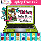 Laptop Frame Clip Art   Rainbow Computer Borders for Technology Resources 2