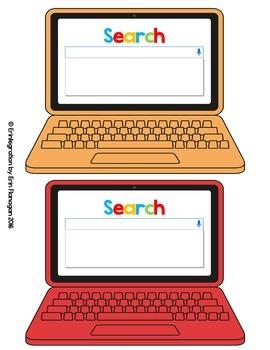 Laptop Google Search Results Bulletin Board Accents - Editable Classroom Decor