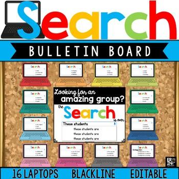 Bulletin Board:  Google Search Results (Laptops)  Editable Classroom Decor