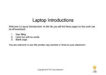 Laptop Introductions