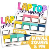 Laptop Mockup for Digital Resources BUNDLE June Edition {S