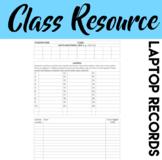 Laptop Record Sheet