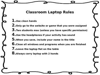 Laptop Rules!
