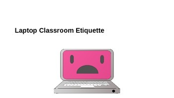 Laptop Rules and Etiquette PowerPoint for classes that use digital devices