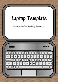 laptop template by suzanne welch teaching resources tpt
