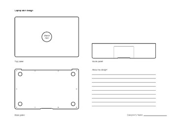 Laptop skin sticker design templates