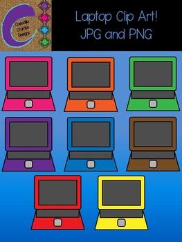 Laptops Clip Art Color Images Designs Computer