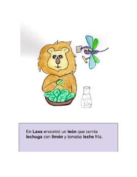Lara la Libélula de Lima. Cuento letra L.