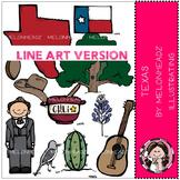 Texas clip art - LINE ART - by Melonheadz