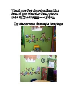 Large 3D Bulletin Boards and Wall Displays Letters from A-Z
