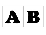 Large ABC Cards - Capital and Lowercase