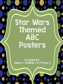 Large ABC Posters - Star Wars Theme (Black Polka Dot)