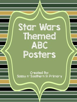 Large ABC Posters - Star Wars Theme (Green Striped)