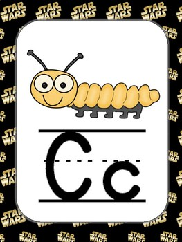 Large ABC Posters - Star Wars Theme (Logo)