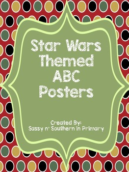 Large ABC Posters - Star Wars Theme (Red Polka Dot)