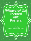 Large ABC Posters - Wizard of Oz Theme (Emerald City Green)