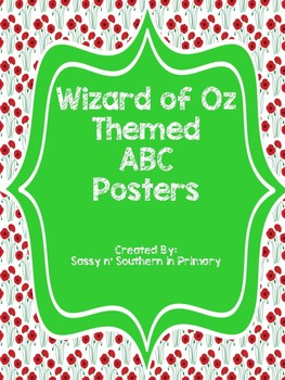Large ABC Posters - Wizard of Oz Theme (Poppy Flowers)