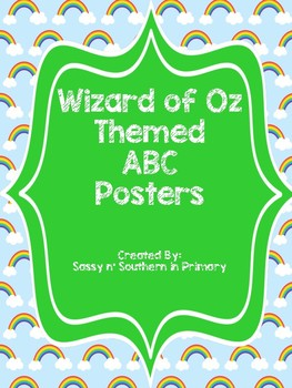 Large ABC Posters - Wizard of Oz Theme (Rainbows)