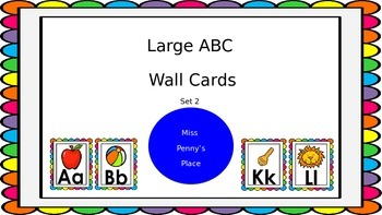 Large ABC Wall Cards - Bright Set 2