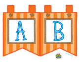"Orange Large Alphabet Banner Flags (2 on 8.5"" x 11"")"