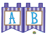 "Purple Large Alphabet Banner Flags (2 on 8.5"" x 11"")"