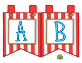 """Red Large Alphabet Banner Flags (2 on 8.5"""" x 11"""")"""