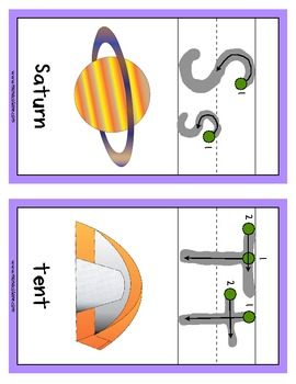 Large Alphabet Cards- Illustrated with Instructional Dots and Arrows