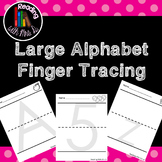 Large Alphabet Finger Tracing Pages