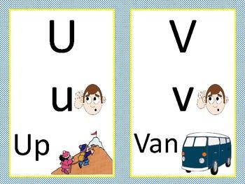 Large Alphabet Flash Cards