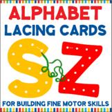Large Alphabet Lacing Cards for Fine Motor Skills