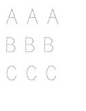 Large Alphabet Letters - Traceable