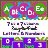 Large Alphabet & Number Printables for Bulletin Boards or Decor