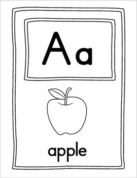 Large Alphabet Picture Cards {BW}
