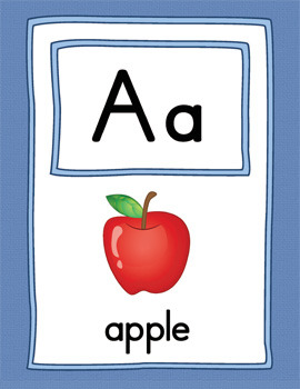 Large Alphabet Picture Cards {COLOR}