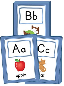 Large Alphabet Picture Cards {COLOR+BW}